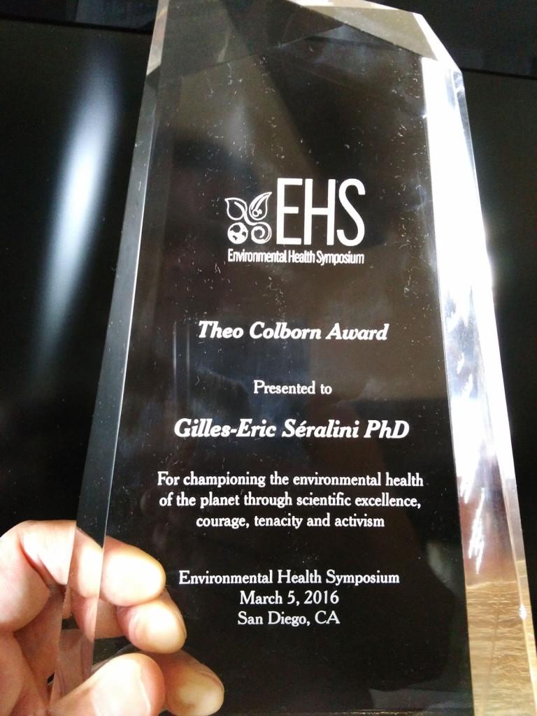 Theo Colborn Award-2016